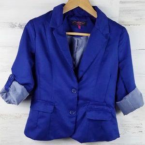 New Look Navy Blue Stripes Inside Blazer